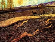 Enclosed Field With Ploughman