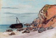 1865. Adresse. Beached Sailboat.