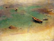 1878. A Boat in the Waters off Capri