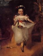 1860-1862. Little Girl Carrying Flowers in Her Apron
