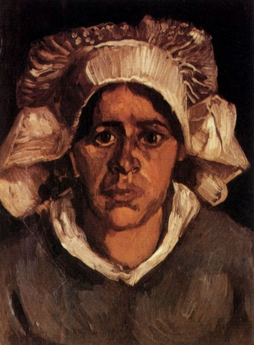 Head Of A Peasant Woman With White Cap 7