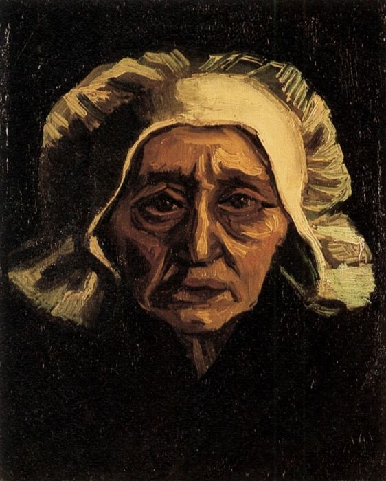 Head Of An Old Peasant Woman With White Cap 2
