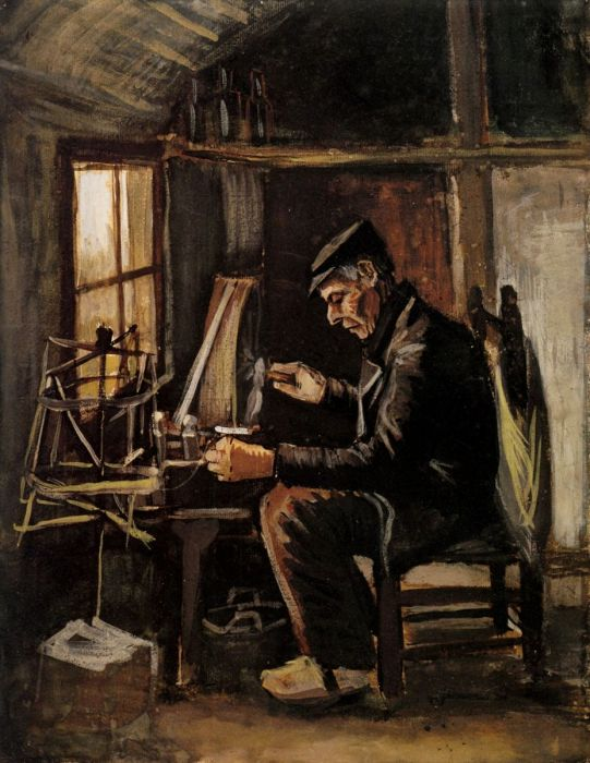Man Winding Yarn