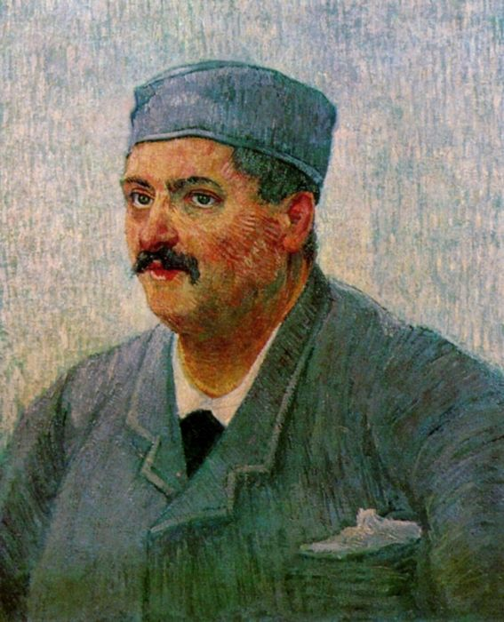 Portrait Of A Man With A Skull Cap