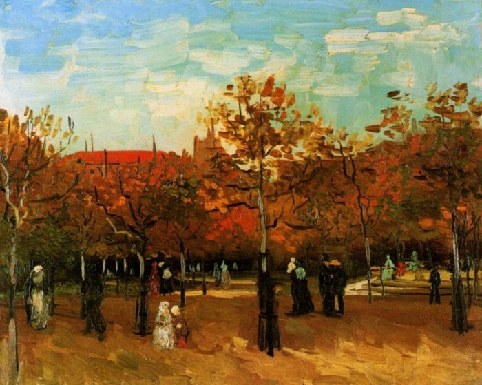 The Bois De Boulogne With People Walking 1
