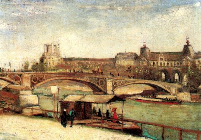 The Pont Du Carrousel And The Louvre