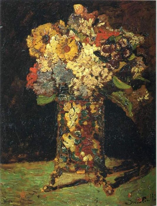 Vase Of Assorted Flowers 1