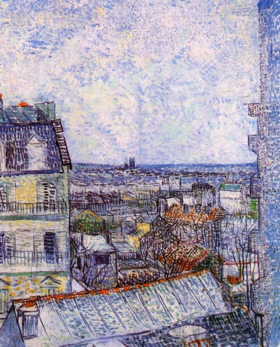 View Of Paris From Vincent S Room In The Rue Lepic 2