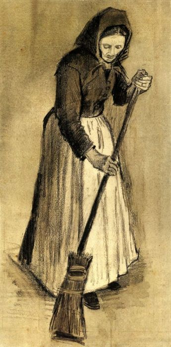 Woman With A Broom 1