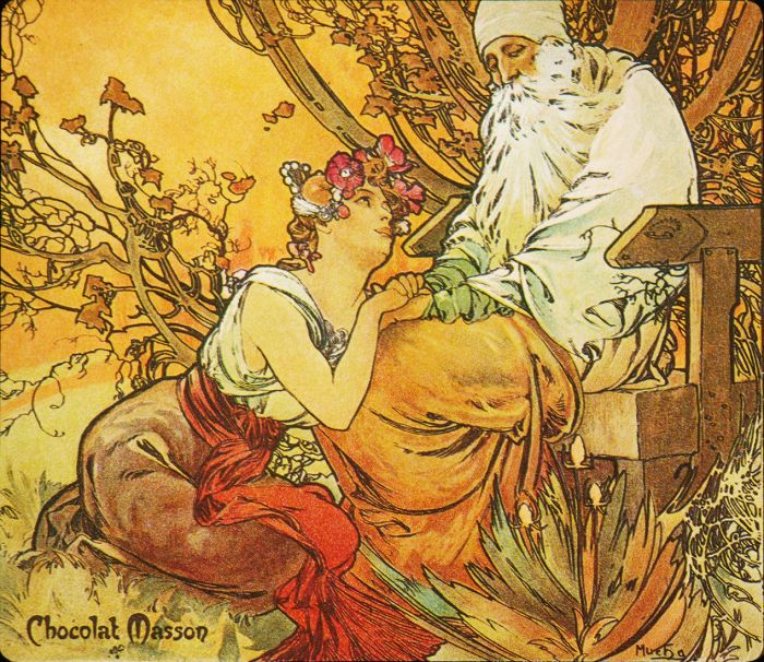 Chocolat Mexicain, Old Age. 1897