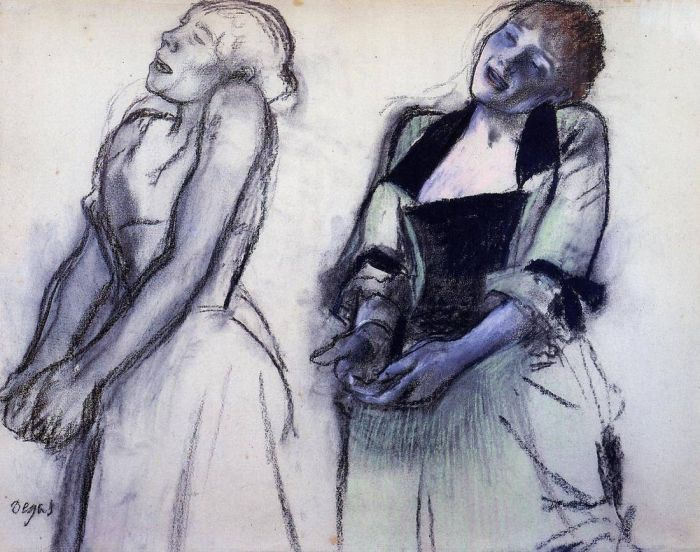 1878-1880. Two Studies for 'Music Hall Singers'