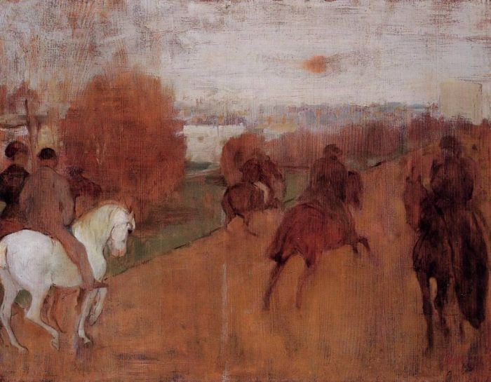 1864-1868. Riders on a Road