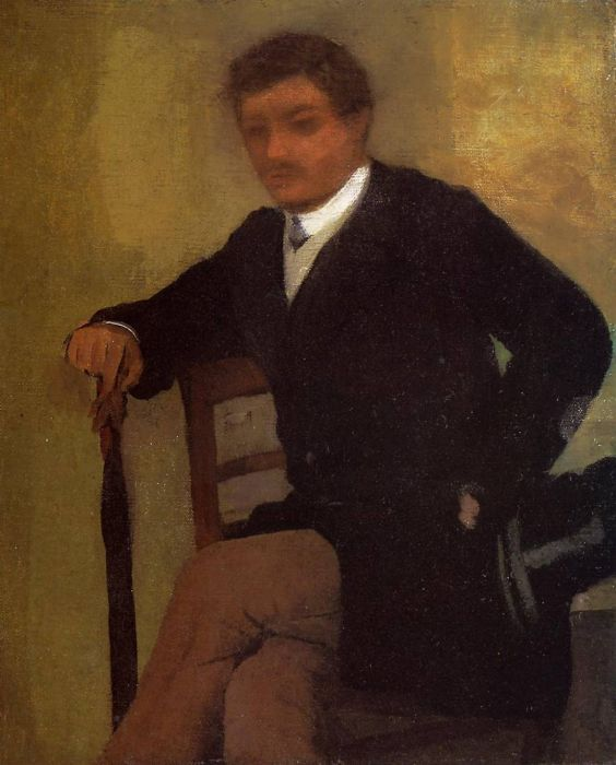 1864-1868. Seated Young Man in a Jacket with an Umbrella