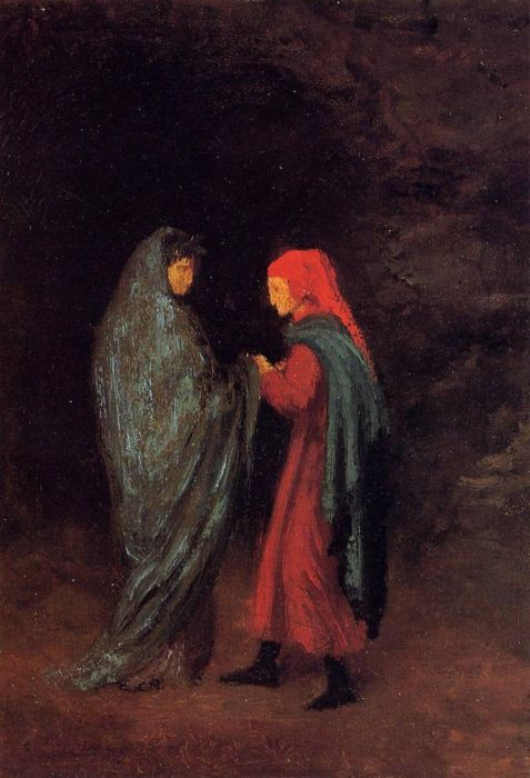 1857-1858. Dante and Virgil at the Entrance to Hell