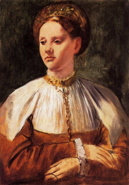 1858-1859. Portrait of a Young Woman (after Bacchiacca)