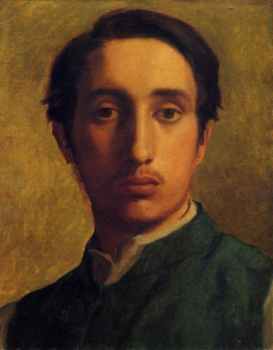 1855-1856. Degas in a Green Jacket
