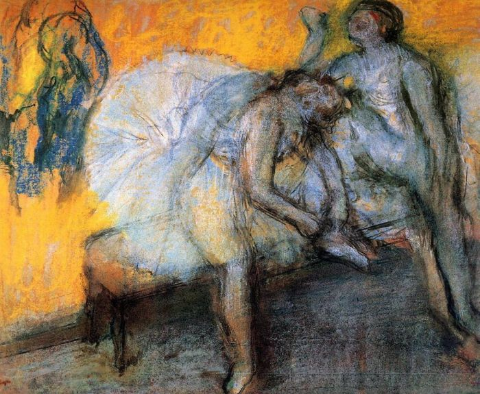 1910. Two Dancers Resting