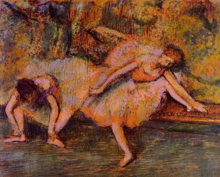 1900-1905. Two Dancers on a Bench