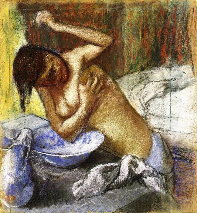 1892. Woman Sponging Her Chest