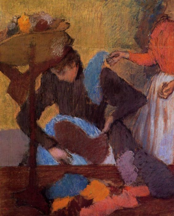 1905-1910. At the Milliner's