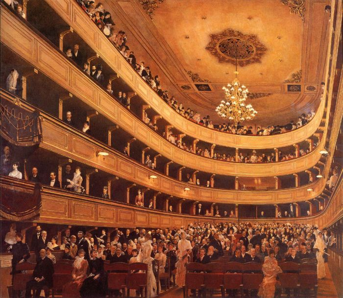 Auditorium in the Old Burgtheater. 1888