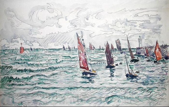 Audierne, Return of the Fishing Boats, 1930