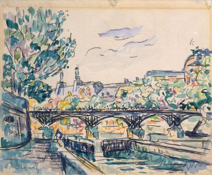 Bank of the Seine Near the Pont des Arts with a View of the Louvre