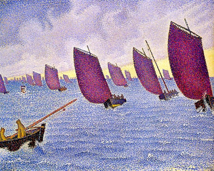 Concarneau, Return of the Longboats, 1891