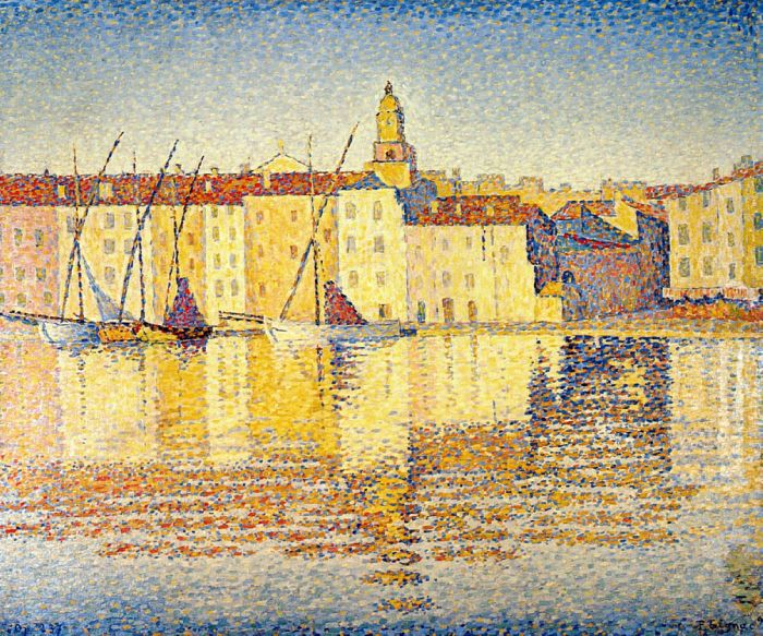 Houses in the Port, Saint-Tropez, 1892