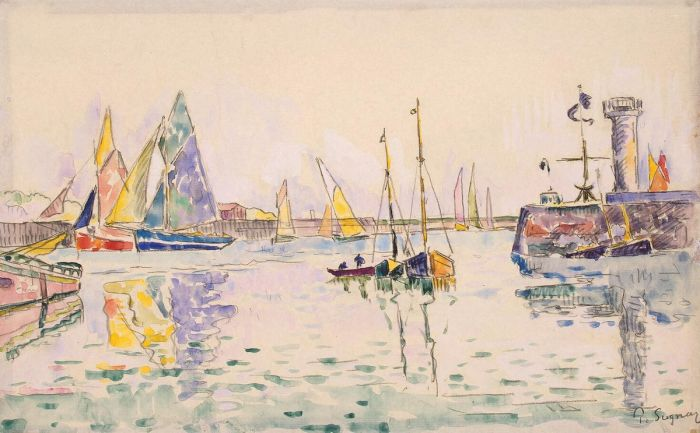 Sailboats in the Harbor of Les Sables-d'Olonne, 1920