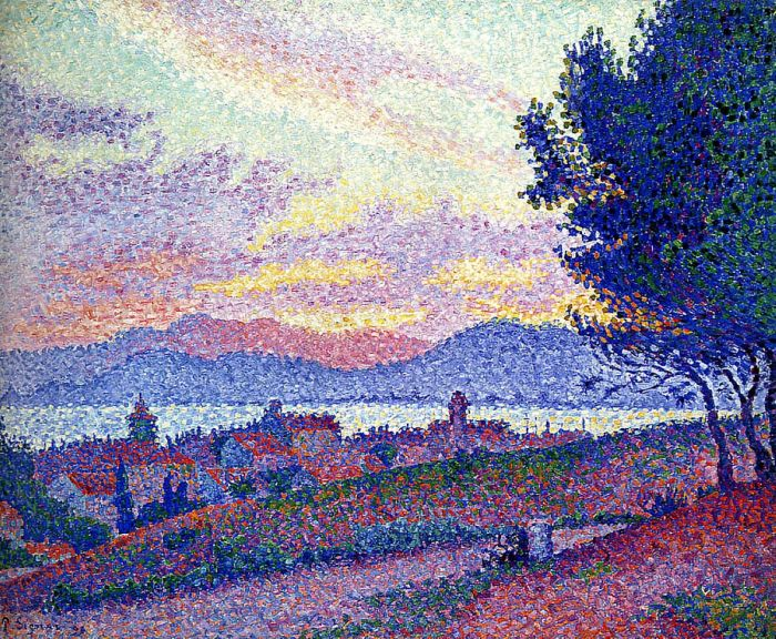Saint-Tropez, Sunset in the Pine Woods, 1896
