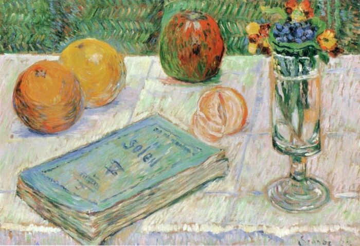 Still Life with a Book and Oranges, 1885