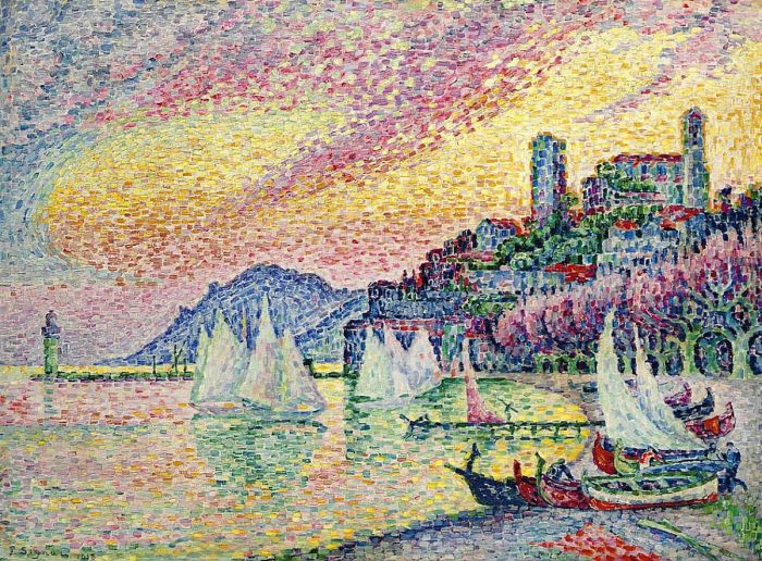 The Harbor of Cannes, 1918