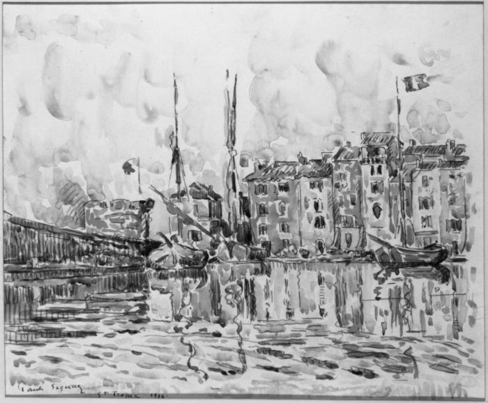 The Port of St. Tropez, 1914