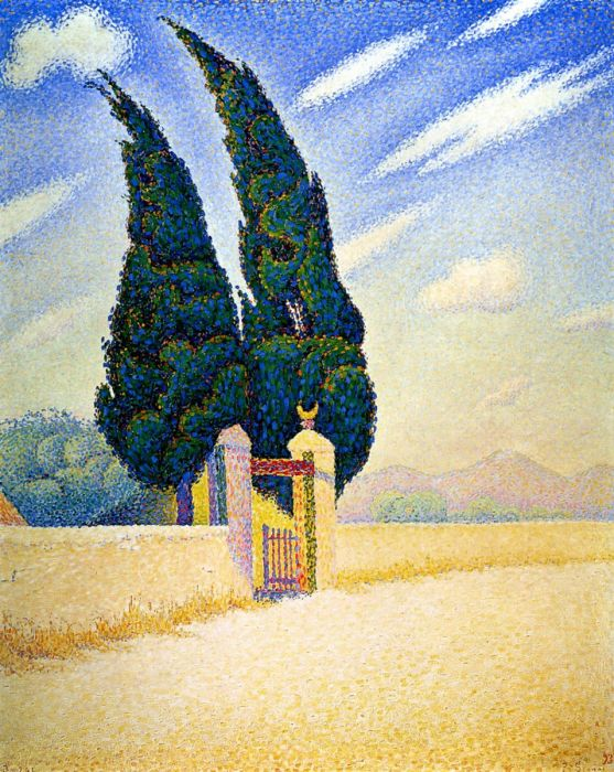 Two Cypresses, Mistral, 1893