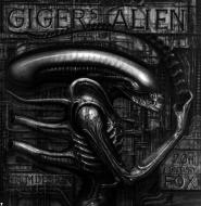 ALIEN MONSTER (GIGER'S ALIEN) acrylic on paper 140x140cm 1979 B&N
