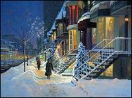 Winter magic, a romantic view of crescent street