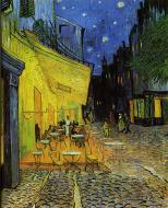 Cafe Terrace On The Place Du Forum At Night