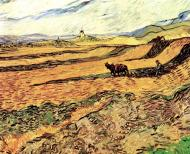 Field With Ploughman And Mill