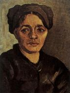 Head Of A Peasant Woman With Dark Cap 6