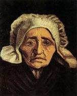 Head Of An Old Peasant Woman With White Cap 1
