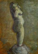 Plaster Statuette Of A Female Torso 7