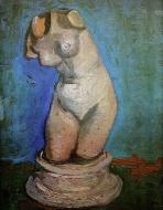 Plaster Statuette Of A Female Torso 8