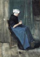 Scheveningen Woman Knitting