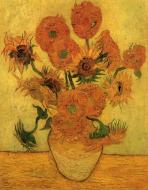 Still Life Vase With Fifteen Sunflowers 2