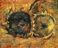 Still Life With Two Dead Sunflowers
