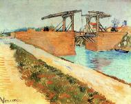 The Langlois Bridge At Arles With Road Alongside The Canal