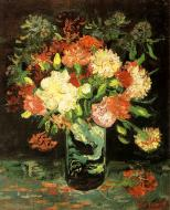 Vase With Carnations 1
