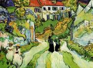 Village Street And Steps In Auvers With Figures