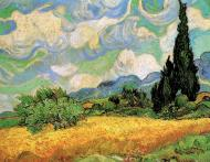 Wheat Field With Cypresses At The Haute Galline Near Eygalieres